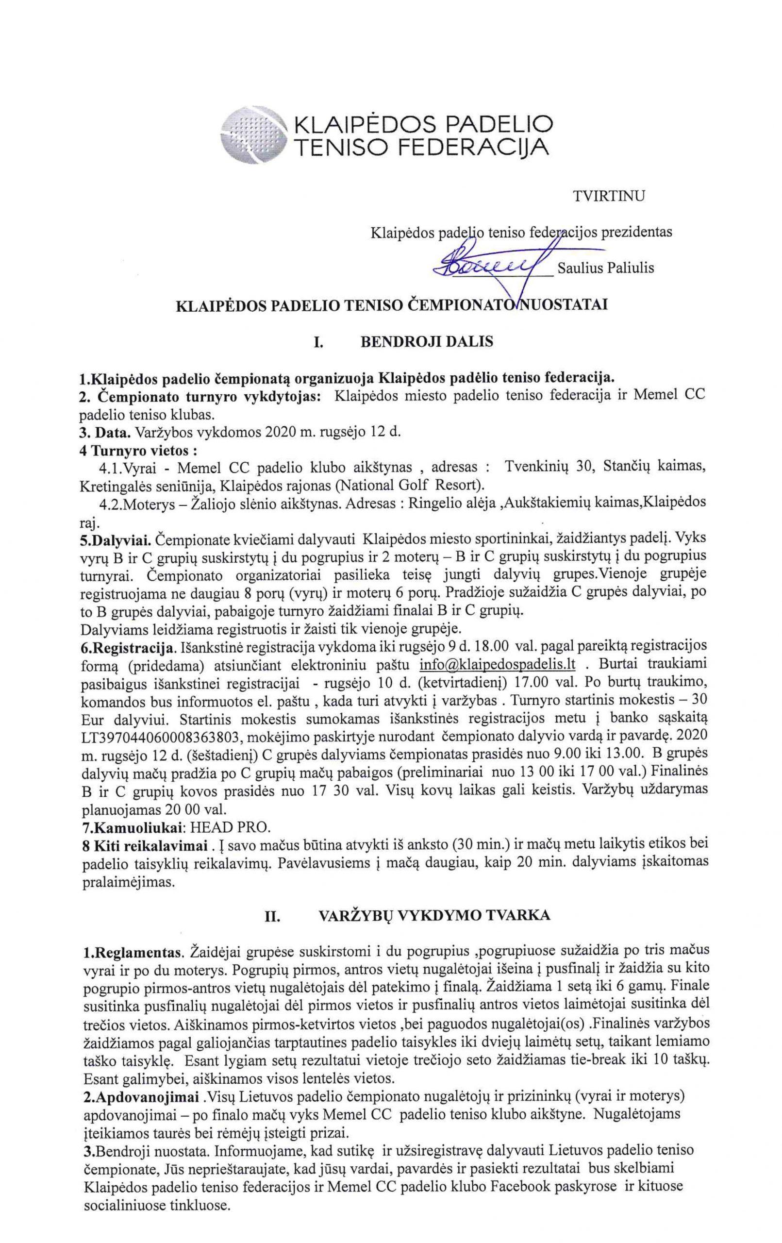 2020 Klaipėdos Padelio Teniso Čempionatas!