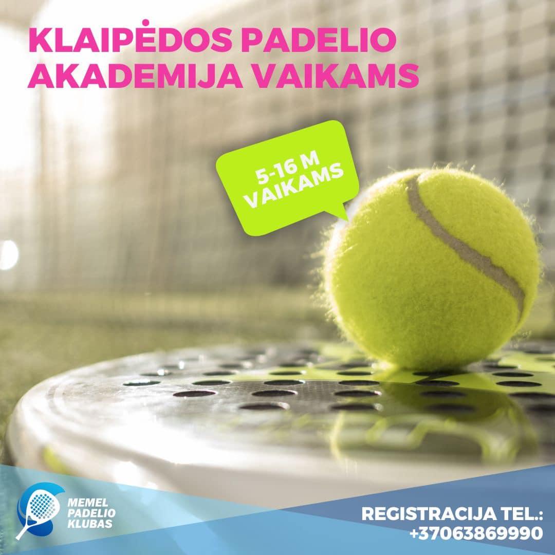 Read more about the article Pirmoji Klaipėdoje padelio akademija VAIKAMS!